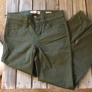 women's size 4 army green calvin klein jeans
